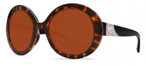 Costa's Isla in retro tortoise frame color with copper 580P lens.
