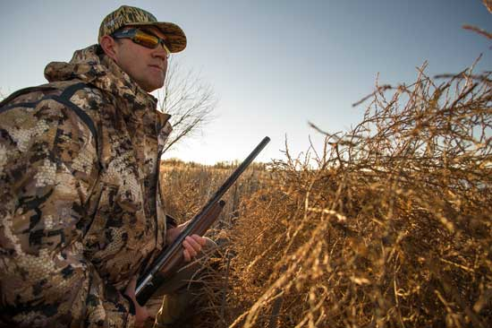 Scott Willoughby waits for ducks in Eastern Colorado